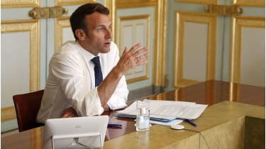 Emmanuel Macron: EU will unravel unless it embraces financial solidarity. © Getty