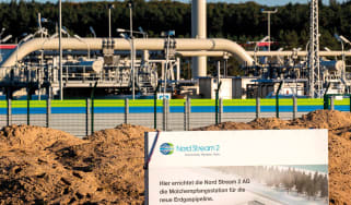 The Nord Stream 2 gas line landfall facility