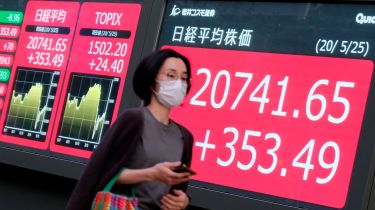 Japan Toppix index stock board ©