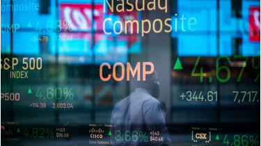 Display of stock indices © Jeenah Moon/Bloomberg via Getty Images