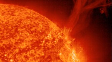 Solar flare erupting from the surface of the Sun © SOHO/ESA/NASA/Getty Images