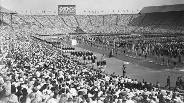 Opening ceremony of the London Olympic Games at Wembley Stadium © Topical Press Agency/Hulton Archive/Getty Images