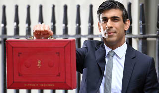 Rishi Sunak and his Budget box
