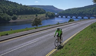 Cyclist by Ladybower Reservoir
