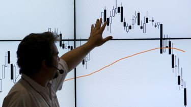 Man pointing to a chart