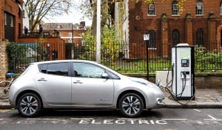 Electric car charging up