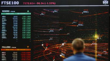 FTSE 100 display in the London Stock Exchange