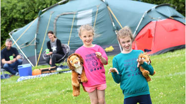 Camp close to the lions and take an out-of hours safari tour © Yorkshire Wildlife Park