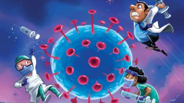 MoneyWeek coronavirus vaccine cover illustration