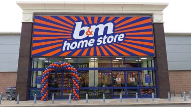 B&M Bargains shop