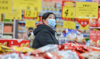 Shopper in a Chinese supermarket