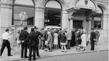 We've fallen out of love with cash since the world's first ATM opened in 1967 © Getty