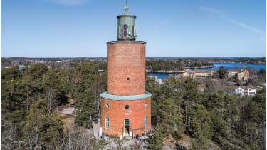 The Vaxholm Water Tower, Stockholm, Sweden.