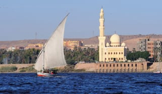 Sailing boat on the River Nile