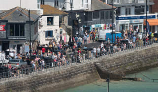 Tourists in St Ives