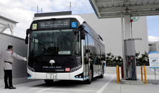 Hydrogen fuel-cell bus © Kiyoshi Ota/Bloomberg via Getty Images