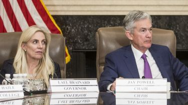 Lael Brainard and Jerome Powell