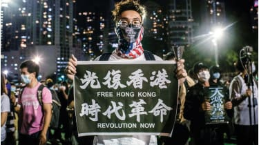 A pro-democracy protester in Hong Kong ©  Ivan Abreu/SOPA Images/Shutterstock