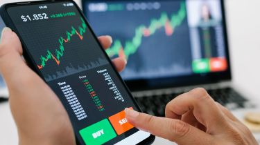 Selling shares on a smartphone