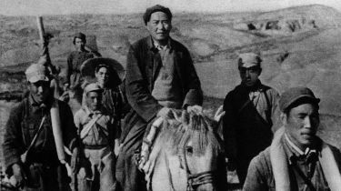 Mao Zedong on what is thought to be the Long March
