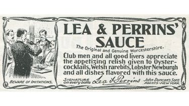 Old advert for Worcestershire sauce © Jay Paull/Getty Images